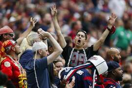 A fan cheers during the first quarter of an NFL game at NRG Stadium Sunday, Sept. 18, 2016 in Houston. ( Michael Ciaglo / Houston Chronicle )