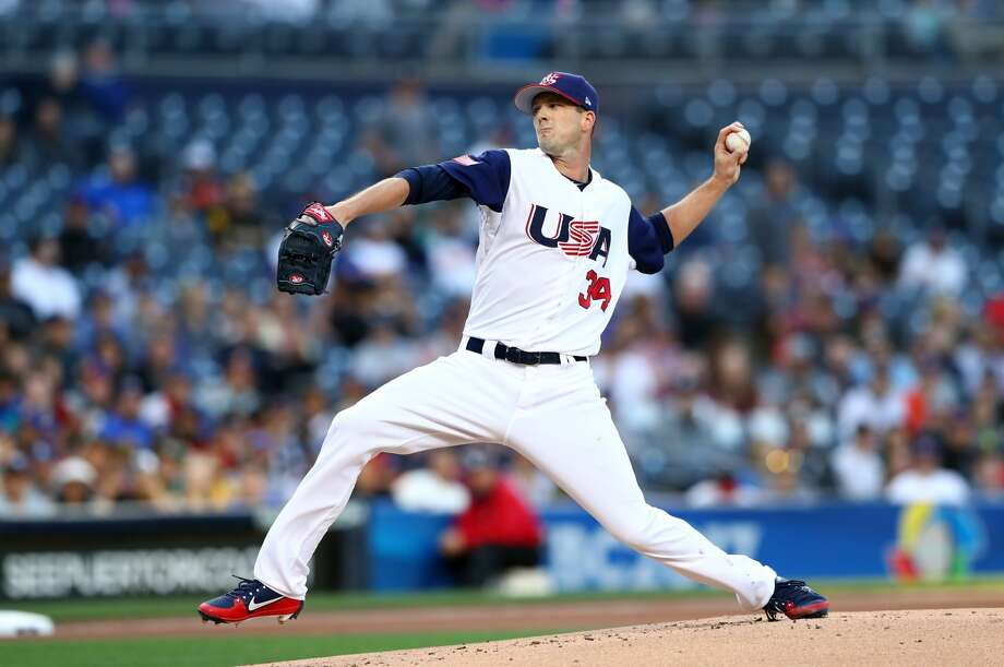 Drew Smyly of Team USA pitches during Game 2 of Pool F of the 2017 World Baseball Classic against Team Venezuela on Wednesday, March 15, 2017 at Petco Park in San Diego, California. (Photo by Alex Trautwig/WBCI/MLB Photos via Getty Images) Photo: Alex Trautwig/MLB Photos Via Getty Images