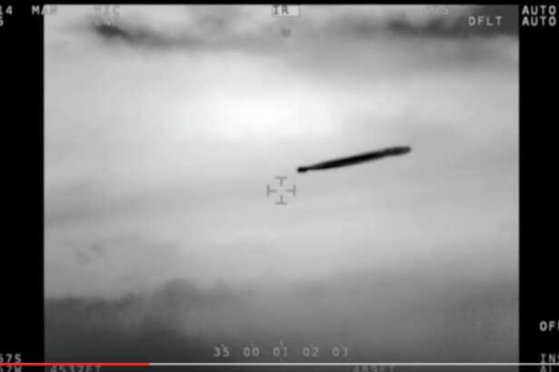 "This is a screen grab from  a YouTube video published by "" ufosontherecord "" taken on Nov. 11, 2014, by a Chilean Navy helicopter (Airbus Cougar AS-532) equipped with an infrared FLIR high-definition camera, according to a report by Chile's CEFAA, which is an agency within DGAC (an agency similar to the FAA but part of the Chilean Air Force)."