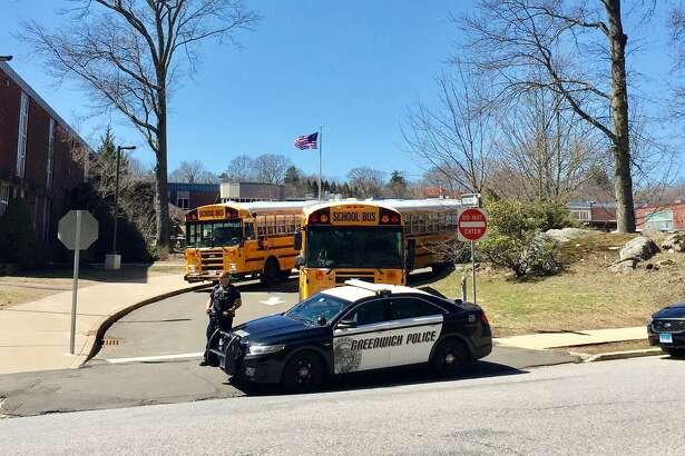 Greenwich High School is on lockdown based on a threat on Wednesday, March 29, 2017. Numerous first responders are on scenein Greenwich, Conn. to investigate.