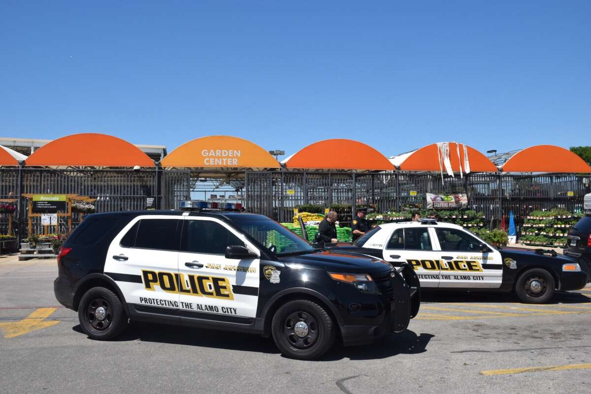 Police arrested a man Wednesday after he assaulted a Home Depot employee while trying to make off with a handful of power drills.