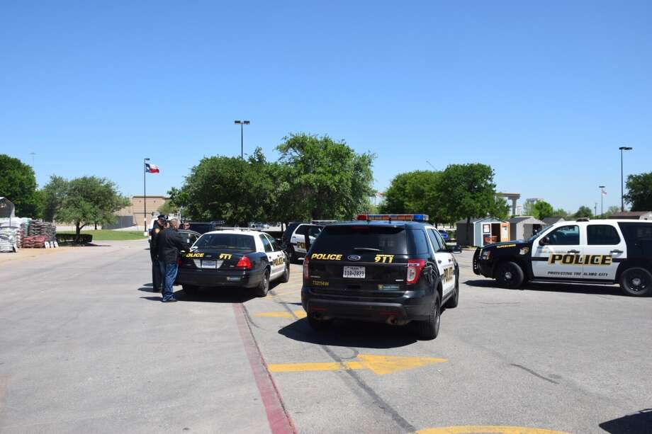 Police arrested a man Wednesday after he assaulted a Home Depot employee while trying to make off with a handful of power drills. Photo: Caleb Downs / San Antonio Express-News