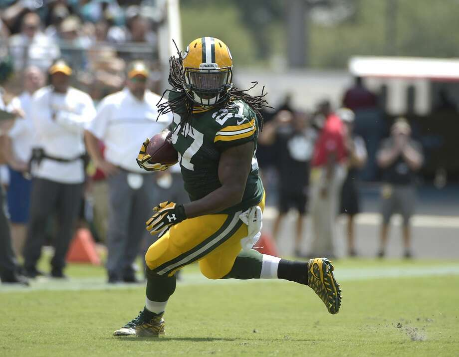 Green Bay Packers running back Eddie Lacy runs against the Jacksonville Jaguars during the first half of an NFL football game in Jacksonville, Fla., Sunday, Sept. 11, 2016.(AP Photo/Phelan M. Ebenhack) Photo: Phelan M. Ebenhack/AP