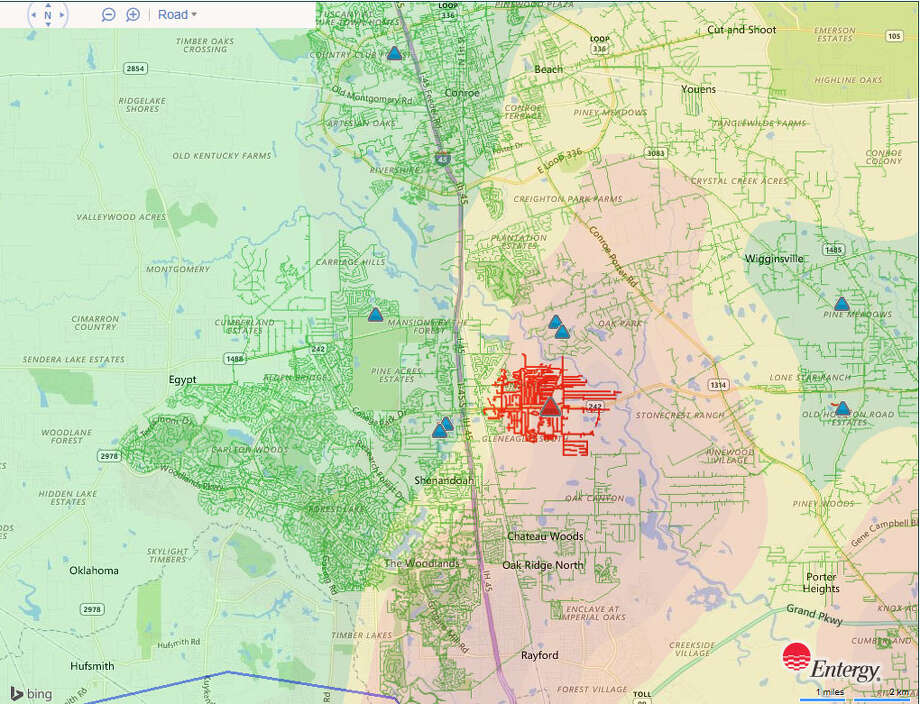 Entergy diligently repairs 5,000 area outages from morning
