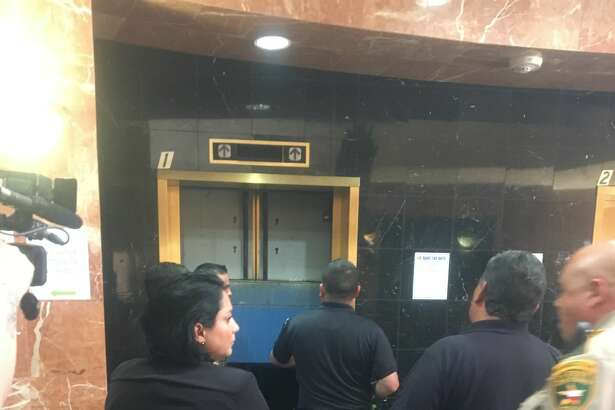 Two judges, along with several court staff, found themselves stuck in an elevator Wednesday for about 30 minutes.