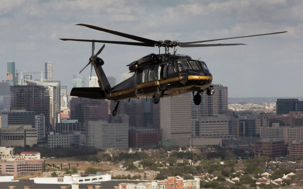 On a typical day in 2016, Customs and Border Protection: flew 217 hours of enforcement missions over the United States.A UH-60 Black Hawk helicopter flew over Houston as part of preparing security for Super Bowl 51, Feb. 1, 2017. Units with U.S. Customs and Border Protection's Air and Marine Operations teamed up with Civil Air Patrol to practice an air-to-air intercept.