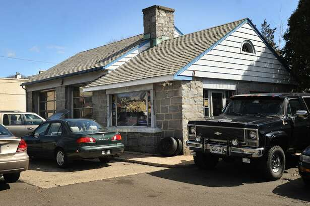 The auto repair shop and former gas station at 3500 Main Street in Stratford, Conn. on Wednesday, March 29, 2017 will be converted to the new home of Donut Crazy later this year.
