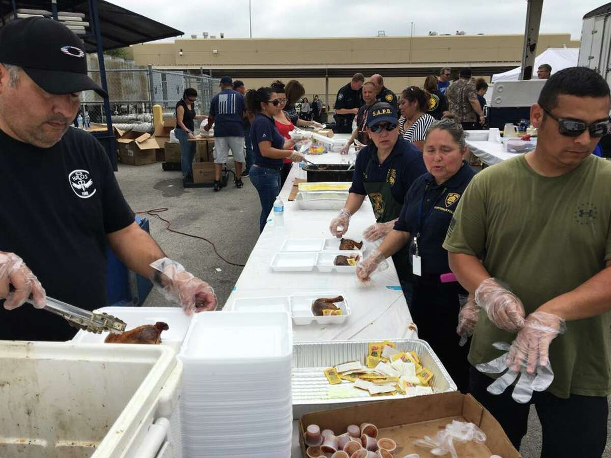 The San Antonio Police Department held a barbecue sale March 27, 2017, raising more than $20,000 in donations for Ofc. Cecilia Cantu's cancer treatment.