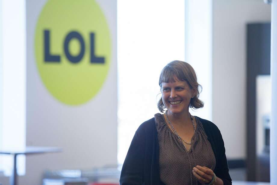 Amanda Hickman laughs at a meeting in BuzzFeed's San Francisco office in 2015. The online media company is reportedly considering an IPO in 2018. Photo: Santiago Mejia, Special To The Chronicle
