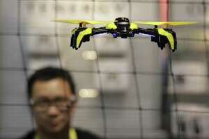 An airborne drone