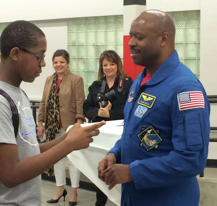 Astronaut delivers message to high school students ...