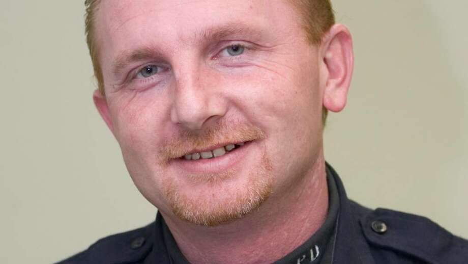 Stamford police Officer Paul Mabey was arrested Wednesday morning and charged with a single count of disorderly conduct following allegations that her showed a cell phone picture of his genitals to a woman during a traffic stop. Photo: File Photo / Stamford Advocate File Photo