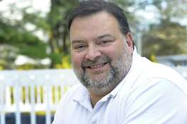 Rob Gianazza, chairman of A Brookfield Party, is photographed at his Brookfield, Conn. home, Wednesday, April 29, 2015.