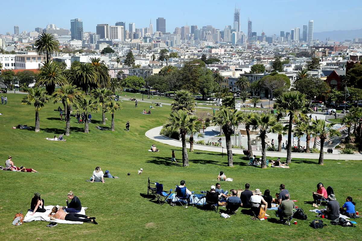 Dolores Park on Wednesday, March 29, 2017, in San Francisco, Calif.