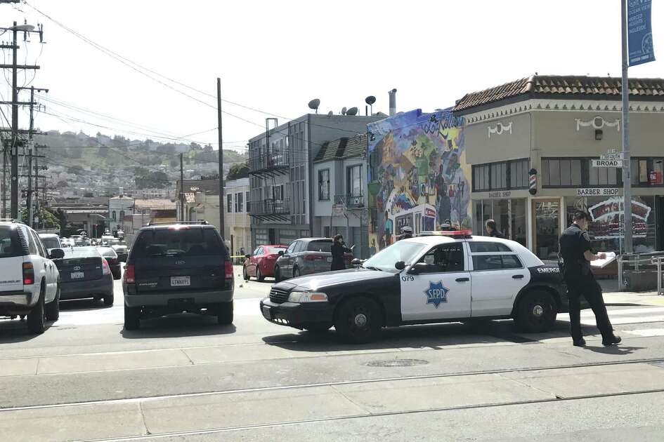 A woman was killed and two men were wounded in a shooting Wednesday morning at Plymouth Avenue and Broad Street in the Oceanview neighborhood of San Francisco.