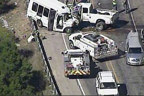 A major collision has shut down Highway 83 near Garner State Park, the Texas Department of Public Safety has confirmed there have been at least 12 fatalities in the accident. ( Photo courtesy WOAI )