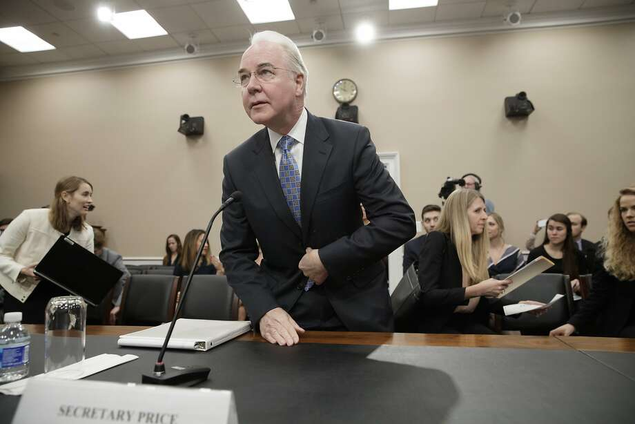 Health and Human Services Secretary Tom Price testifies before the House Appropriations health subcommittee. Photo: J. Scott Applewhite, Associated Press