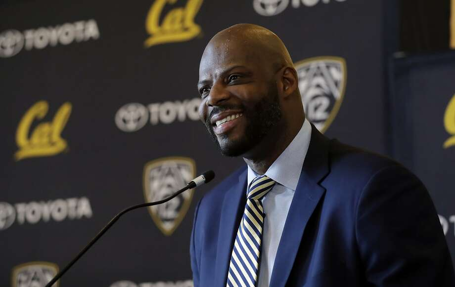Wyking Jones smiles during a press conference to announce his new appointment as California NCAA college men's basketball coach Wednesday, March 29, 2017, in Berkeley, Calif. (AP Photo/Marcio Jose Sanchez) Photo: Marcio Jose Sanchez, Associated Press