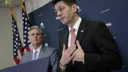 Speaker of the House Paul Ryan, R-Wis., joined by Majority Leader Kevin McCarthy of Calif., talks about getting past last week's failure to pass a health care overhaul bill and rebuilding unity in the Republican Conference Tuesday.