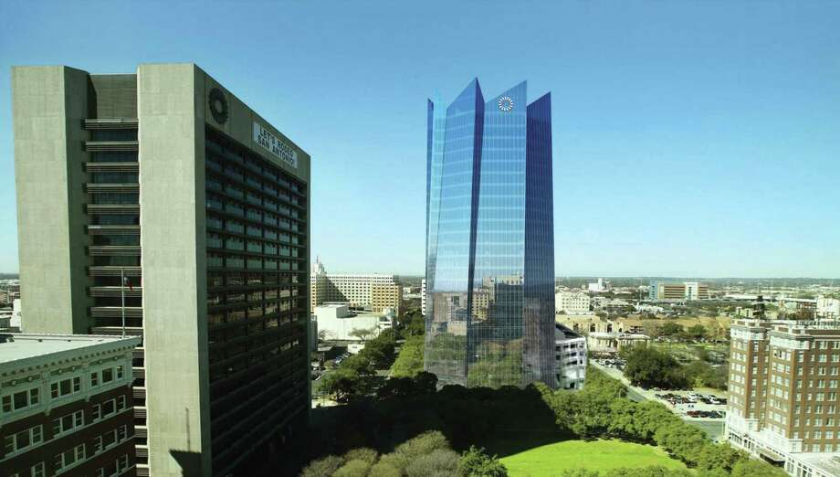The new Frost Tower is expected to change San Antonio's downtown skyline. Keep clicking to see time-lapse photos showing construction progress for the skyscraper. Photo: Rendering Courtesy Of Frost Bank /