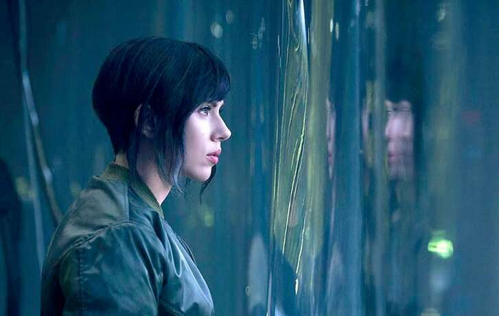 """Scarlett Johansson in """"Ghost in the Shell."""" MUST CREDIT: Paramount"""