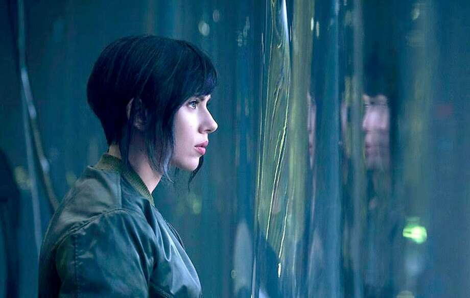 "Scarlett Johansson stars in ""Ghost in the Shell."" Photo: Paramount"