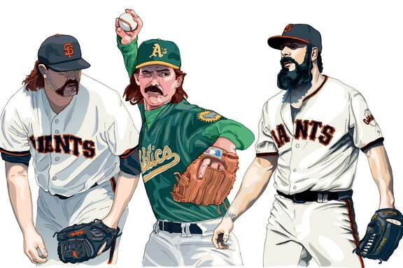 Bay Area greats (from left) Rod Beck, Dennis Eckersley and Brian Wilson.