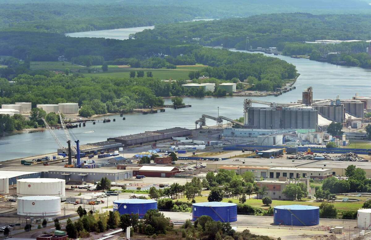 A view of the Port of Albany from the Corning Tower Tuesday, July 26, 2016, in Albany, N.Y. (John Carl D'Annibale / Times Union)