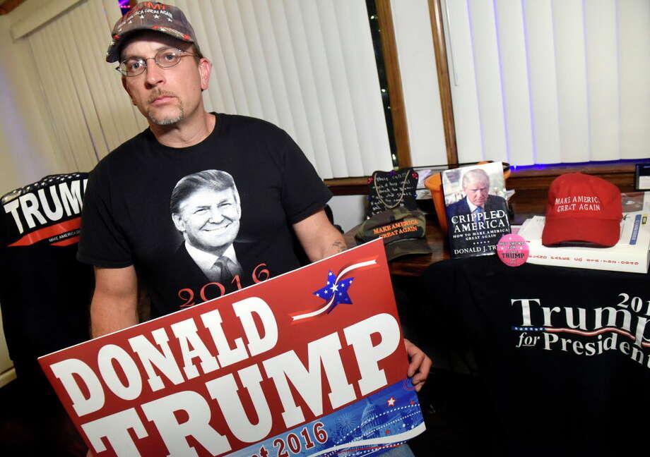 Tim Lighthall of Fort Plain remains a diehard Trump supporter. (Cindy Schultz / Times Union) Photo: Cindy Schultz / Albany Times Union