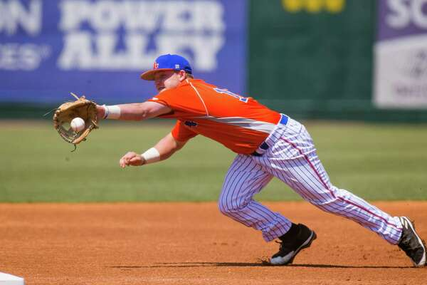 Houston Baptist baseball player Austin Zillweger