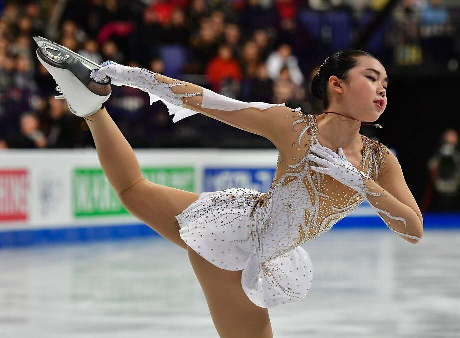 Karen Chen of Fremont skates in the women's short program in Helsinki. Photo: JOHN MACDOUGALL, AFP/Getty Images