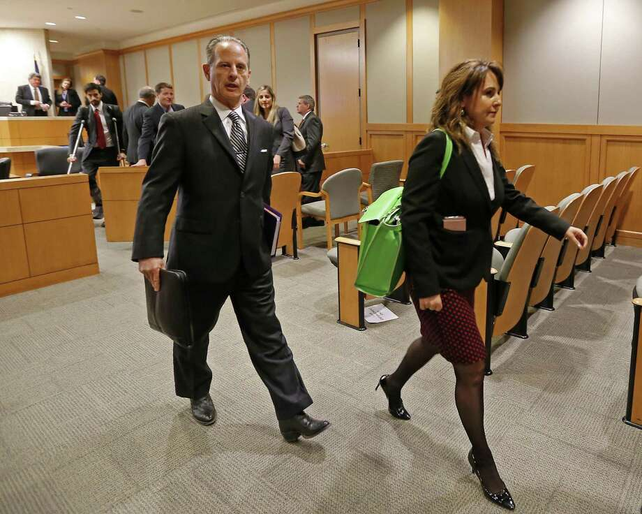 Special prosecutors Brian Wice (left) and Nicole DeBorde leave a courtroom after a Texas Attorney General Ken Paxton's hearing at Collin County Courthouse in McKinney, Texas, Thursday, Feb. 16, 2017. (Jae S. Lee/The Dallas Morning News) Photo: Jae S. Lee / Staff Photographer / The Dallas Morning News