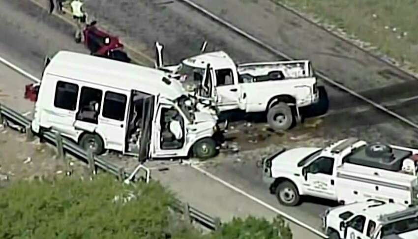 Here's what we know about the tragic crash that killed 13 people near Garner State Park.1. A truck driven by a Jack D. Young, 20, collided with a van carrying a church group on March 29, 2017, on U.S. 83 outside Garner State Park, resulting in 13 deaths. The truck veered into the southbound lane and hit the bus head-on.