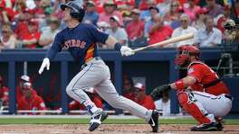 After a 1-for-34 start to his Astros career, Alex Bregman finished last season with a .264 average.