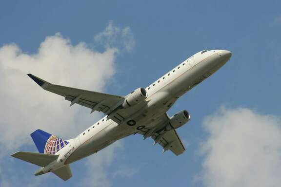 A United Express flight operated by Mesa Airlines takes off from Bush Intercontinental Airport. The Phoenix-based carrier has over 1,100 flight attendants, with about 440 of those based in Houston.