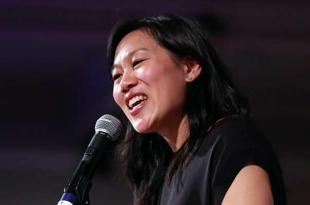 Dr. Priscilla Chan speaks at Teach For America gala at San Francisco Design Center Galleria in San Francisco, Calif., on Wednesday, March 29, 2017.