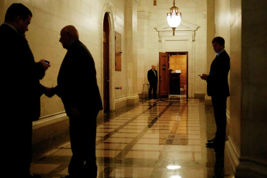 A view looking down the hallway towards the Senate Majority Leader's conference room at the Capitol on Wednesday, March 29, 2017, in Albany, N.Y.  (Paul Buckowski / Times Union) Photo: PAUL BUCKOWSKI / 20040099A
