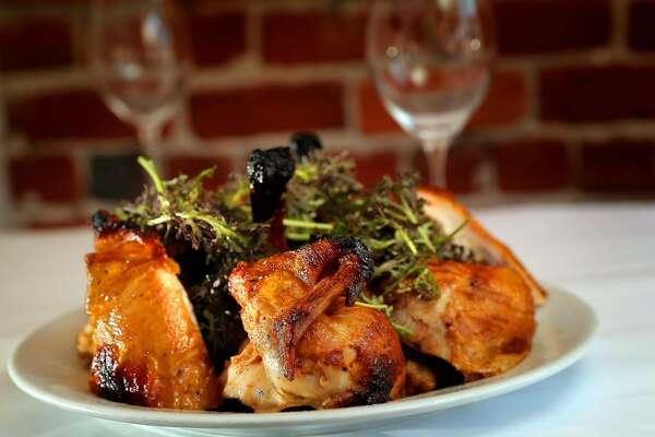 The Roast Chicken for two served at Zuni Cafe restaurant in San Francisco, Calif., on Wednesday, March 29, 2017.