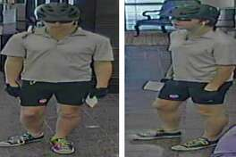 Police are looking for a suspect who walked into the IBC bank in the 16000 block of Huebner Road around 2:20 p.m. Monday, March 27, 2017, while wearing a bicycle helmet, sunglasses and cyclist shorts and demanded money from the teller.