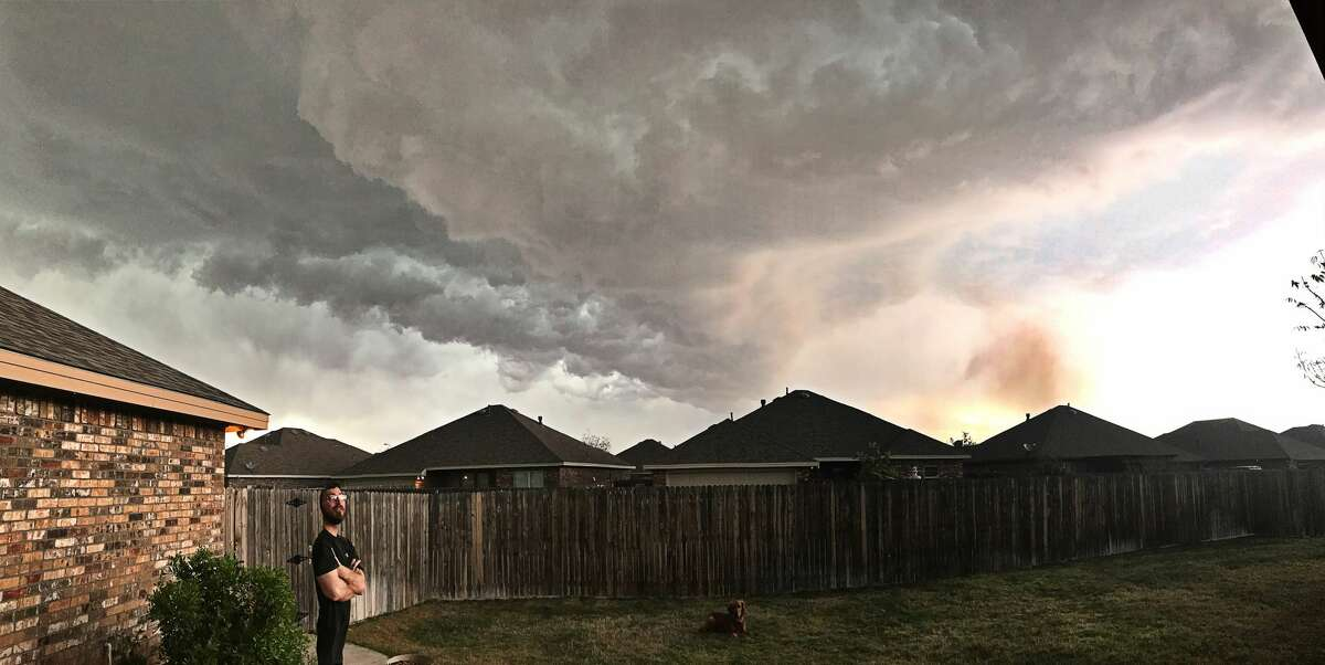 This photo was taken from a backyard in North Midland.