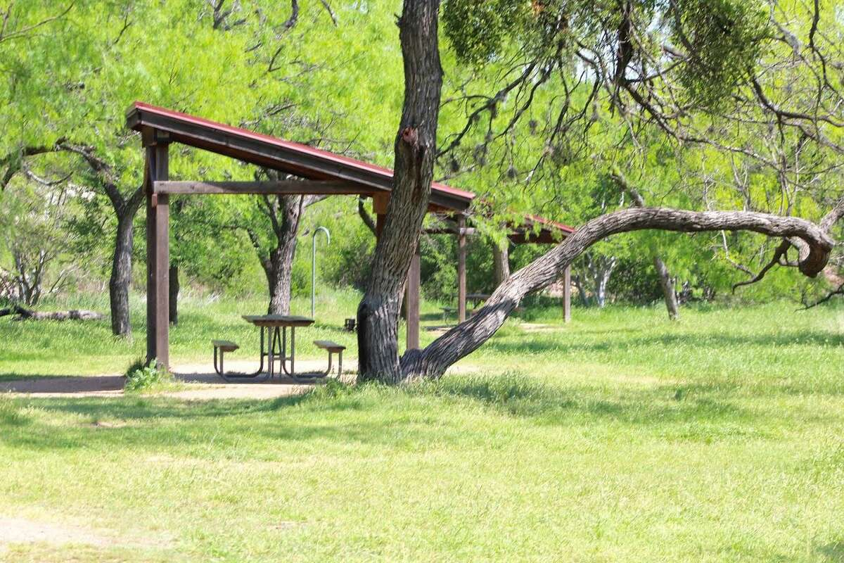 One of the 35 walk-in campground sites located throughout Enchanted Rock. Each site is equipped with a picnic table, outdoor grill, fire ring and tent pad.