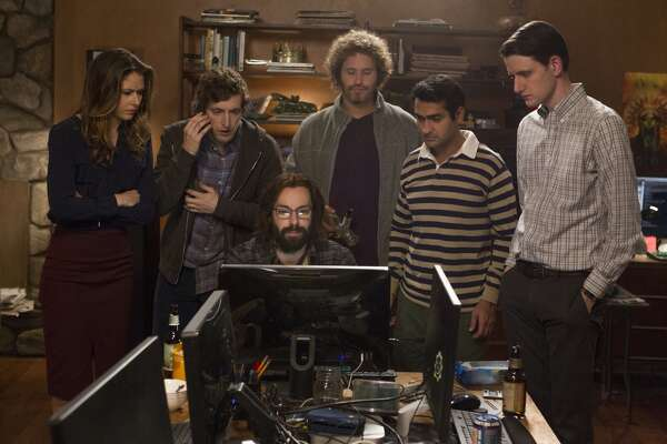 "SILICON VALLEY  In the fourth season of the acclaimed tech comedy, Richard Hendricks threatens to leave his own company to ""build a new internet.""  Silicon Valley  returns on HBO on Sunday, April 23rd.   (AMC)"