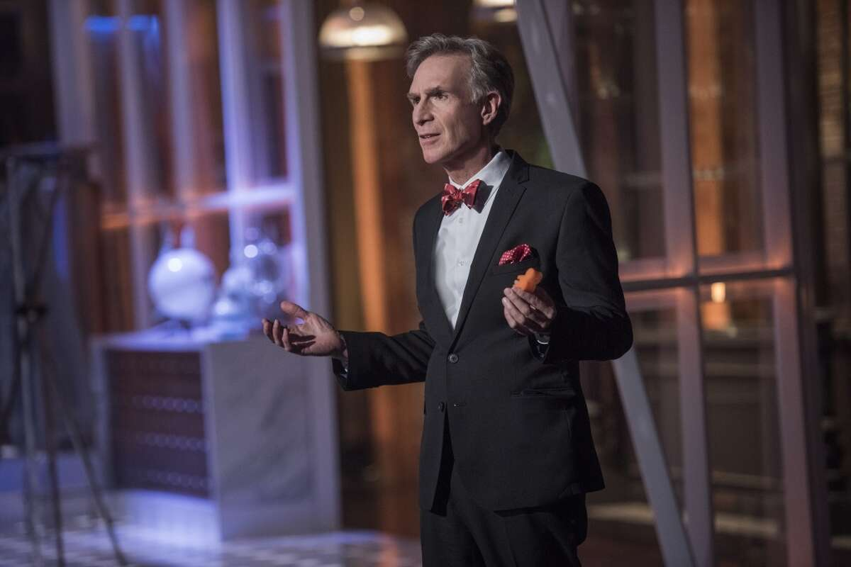 BILL NYE SAVES THE WORLD Bill Nye - the Emmy-nominated host, educator and engineer - returns with a new talk show that takes on a variet topics from a scientific point of view, dispelling myths, and refuting anti-scientific claims. It debuts on Netflix on Friday, April 21st. (Netflix)