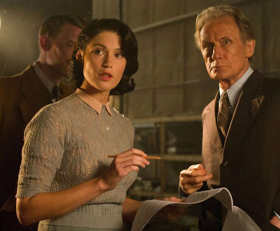 "Gemma Arterton is a writer working on a wartime propaganda film starring Bill Nighy in ""Their Finest."" Photo: STX Entertainment, Nicola Dove"