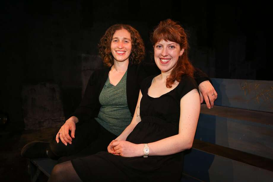 """Creative producer Anna Shneiderman (left) and writer-director Addie Ulrey say the themes in """"Overnight"""" are explored from a variety of perspectives. Photo: Amy Osborne, Special To The Chronicle"""