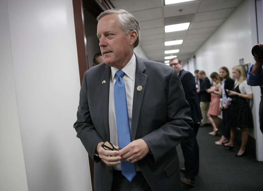 House Freedom Caucus Chairman Rep. Mark Meadows, R-N.C., leads the hard-line conservative Republican group. Photo: J. Scott Applewhite, Associated Press