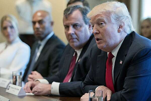 President Trump and New Jersey Gov. Chris Christie