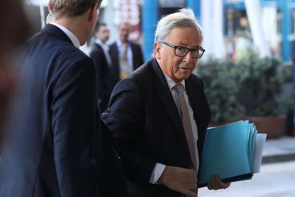 Jean-Claude Juncker, president of the European Commission, arrives for the European People's Party Congress on March 30, 2017, in San Giljan, Malta. (Photo by Sean Gallup/Getty Images)