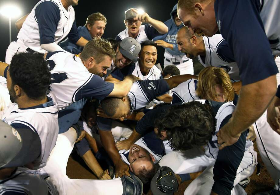 This is a fact: the San Rafael Pacifics won the 2015 Pacific Association of Professional Baseball Clubs' championship game. Photo: Scott Strazzante, The Chronicle