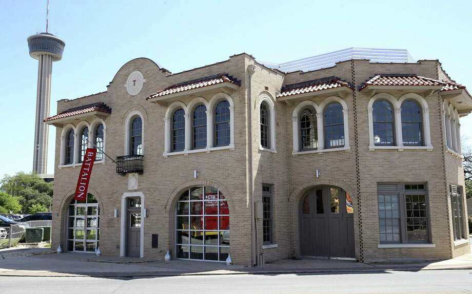 Battalion restaurant is located in San Antonio's old Fire Station No. 7, a historic structure across from Hemisfair Park. Photo: Tom Reel /San Antonio Express-News / 2017 SAN ANTONIO EXPRESS-NEWS